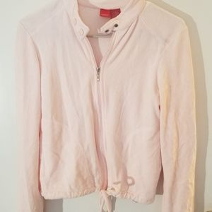 Pink terry jacket